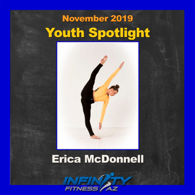 Erica McDonnell is an exceptional youth athlete who trains at Infinity Fitness AZ