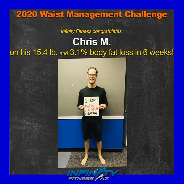Chris's Transformation at Infinity Fitness