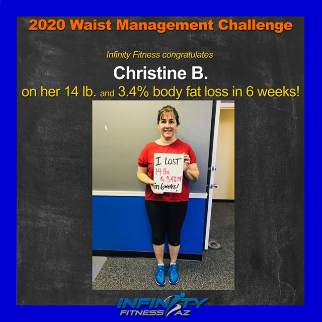 Christine's Transformation at Infinity Fitness