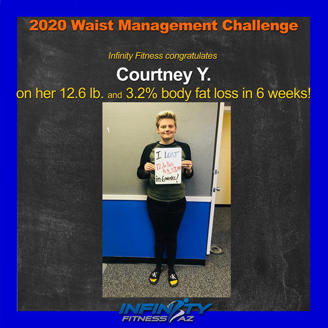 Courtney's Transformation at Infinity Fitness