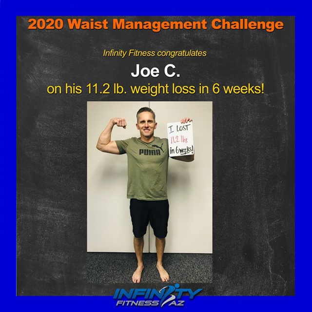 Joe's Transformation at Infinity Fitness