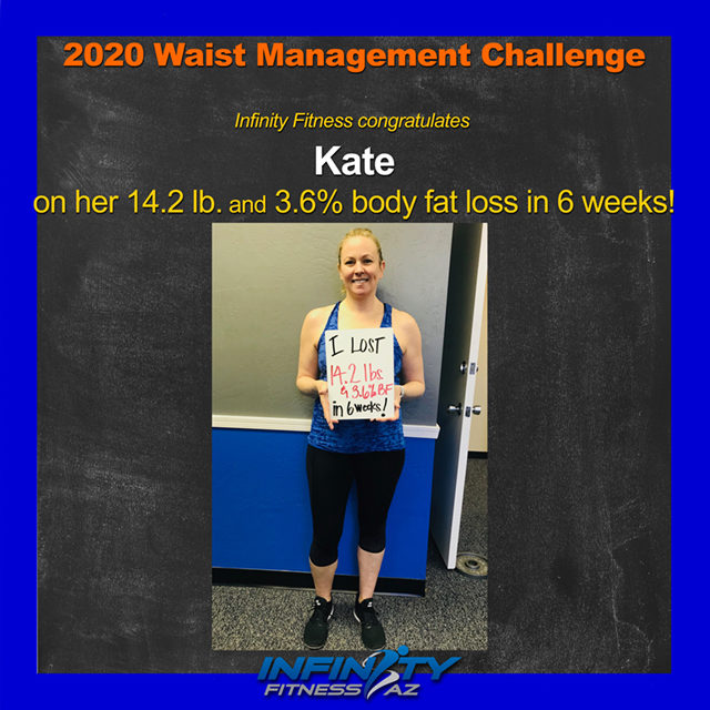 Kate's Transformation at Infinity Fitness