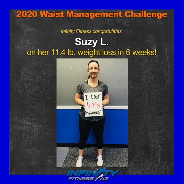 Suzy's Transformation at Infinity Fitness